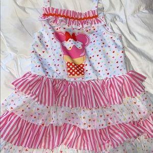 babygirl ice cream minnie dress - 3t
